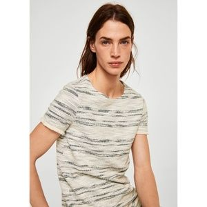 Stripe textured dress from Mango